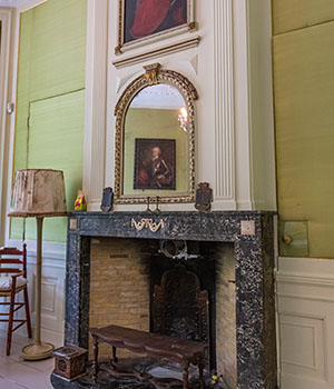 The original fireplace from 1871