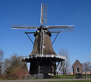 Langweer Mill can be visited from Huize Boschoord